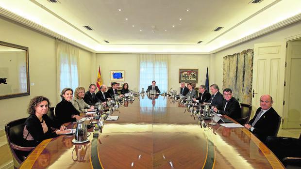 Primera reunión del actual Consejo de Ministros, en noviembre pasado