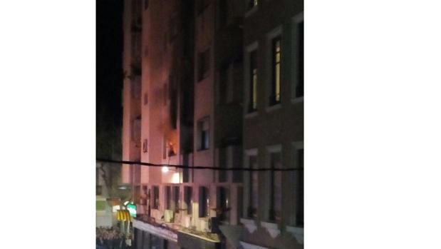 Imagen de la vivienda en la que se produjo el incendio