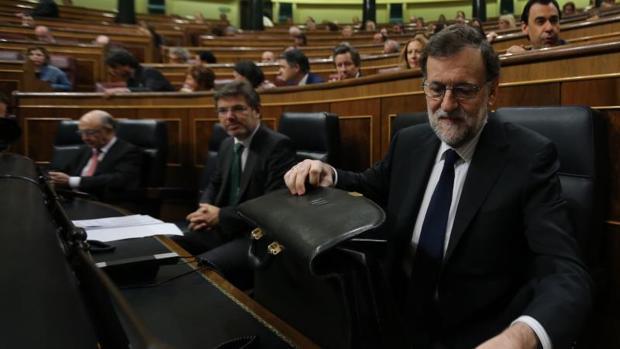 Mariano Rajoy, este miércoles en la sesión de control al Gobierno en el Congreso