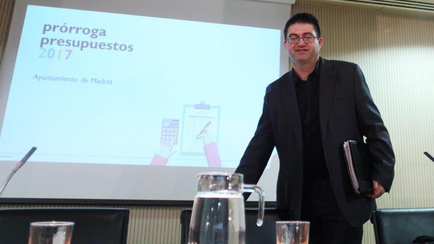 Carlos Sánchez Mayo, durante la presentación de los presupuestos