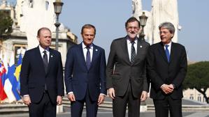 Rajoy defiende el imperio de la ley en el 60 aniversario del Tratado de Roma