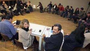 Carmen Santos y Pablo Fernández, ayer en el Consello Cidadán Autonómico
