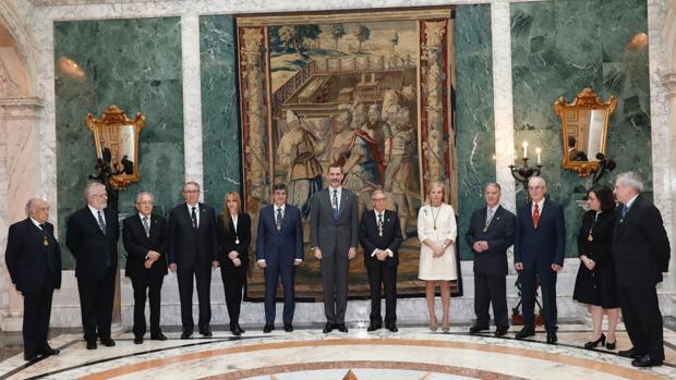Audiencia del Rey Felipe VI con los representantes de la RACEF, en Barcelona