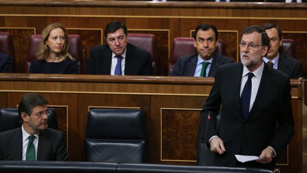 Mariano Rajoy, durante la sesión de control al Gobierno del pasado miércoles