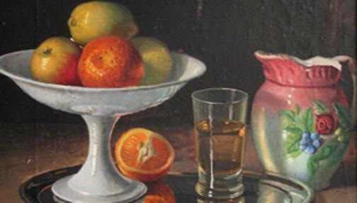 «Bodegón con frutero, jarro y vaso» (1925)