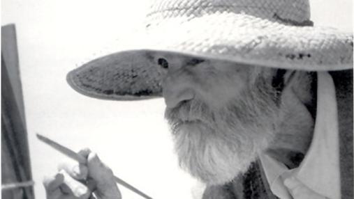 Fotografía del pintor López Torres a finales de la década de los setenta
