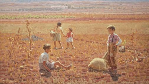 Niños en un rastrojo (1958)