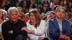 Felipe González, el pasado domingo en el acto de presentación de la candidatura de Susana Díaz