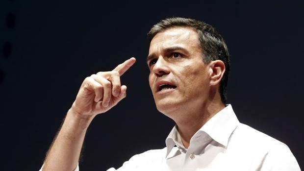 El ex secretario general del PSOE y candidato de nuevo al cargo, Pedro Sánchez