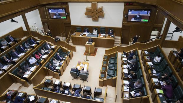El pleno del Parlamento vasco