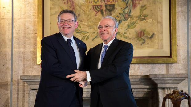Imagen de Puig y Fainé tomada este viernes en el Palau de la Generalitat
