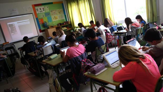 Alumnos de un colegio de Las Rozas