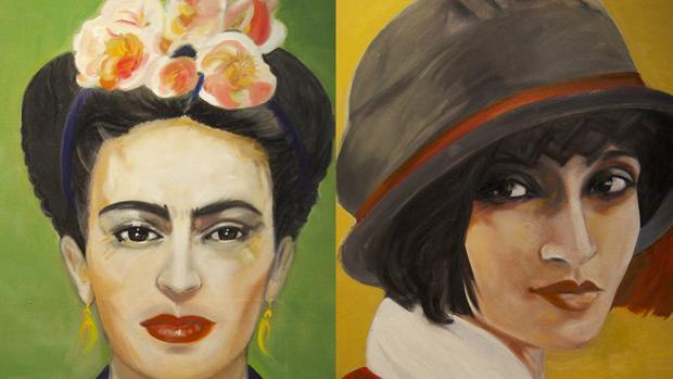 Frida Khalo (izq.) y Tina Modotti, en la exposición del Ateneo de Madrid
