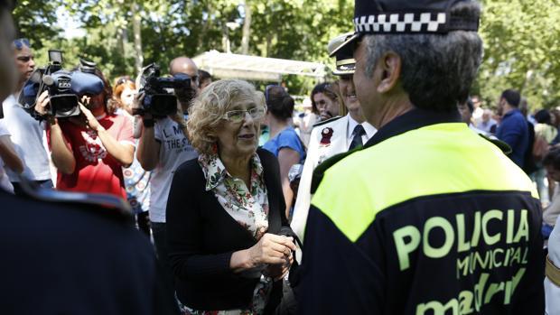 Carmena, en la fiesta del patrón de la Policía