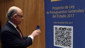 El ministro Cristóbal Montoro, durante la presentación de los Presupuestos Generales del Estado
