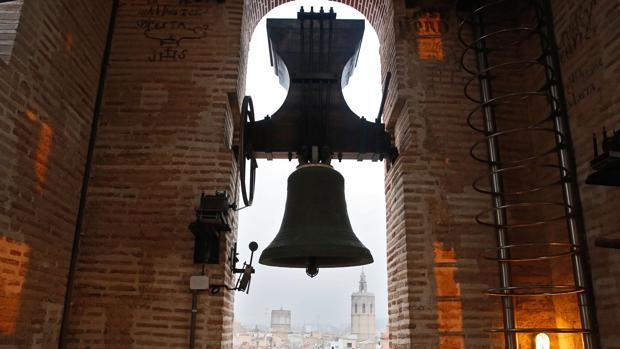 Imagen del campanario de la iglesia de San Nicolás de Valencia