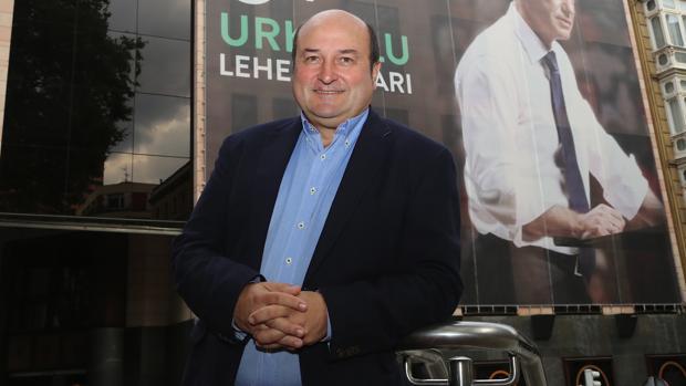 El presidente del EBB del PNV, Andoni Ortúzar