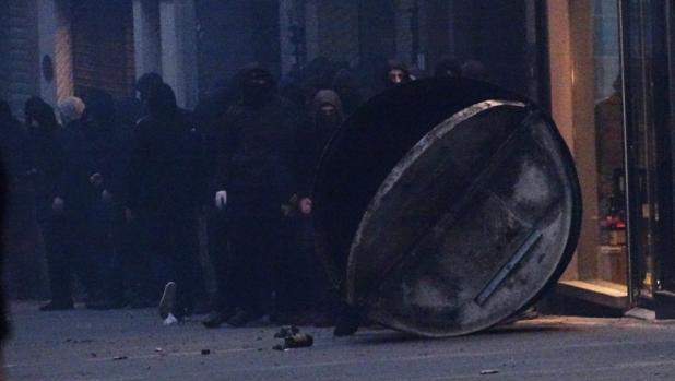 La manifestación derivó en sucesos violentos