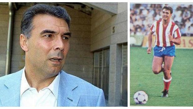Julio Prieto, en la actualidad; a la derecha, en su época de futbolista