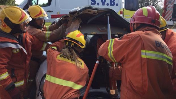 Un muerto y tres heridos en un accidente en Vilamarxant