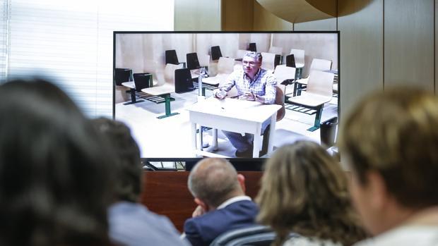Francisco Granados, en la Asamblea de Madrid por videoconferencia