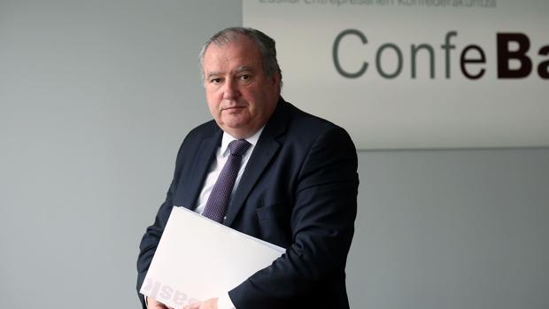 El presidente de Confebask, Roberto Larrañaga