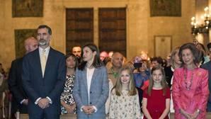 La Familia Real acudió a la Misa de Resurrección en la Catedral de Palma