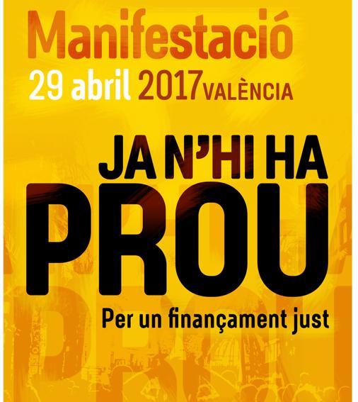Cartel de la manifestación convocada por ACPV