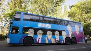 El «tramabus» en su primer día de recorrido por las calles de Madrid