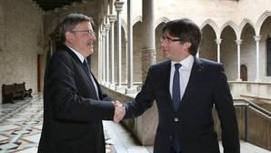 Imagen de Puigdemont y Puig tomada este miércoles en Barcelona