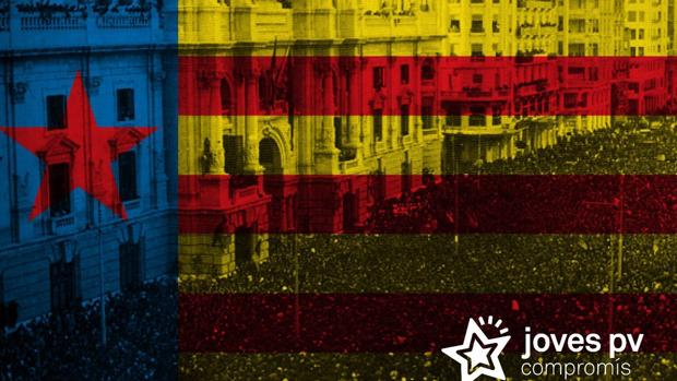 Imagen difundida por Joves de Compromís