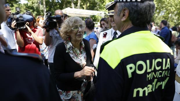 La Policía Municipal protesta contra la «política de recortes» de Carmena