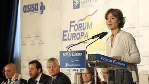 La ministra García Tejerina, durante su intervención en la presentación del Concurso Mundial