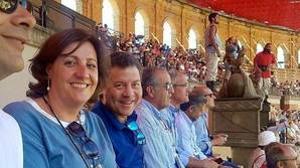 La consejera Franco y el presidente García-Page, en el viaje que hicieron en septiembre al parque francés