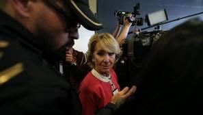 Esperanza Aguire, tras declarar en la Audiencia Nacional este jueves