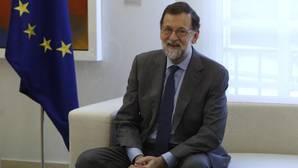 El presidente del Gobierno, Mariano Rajoy, en La Moncloa