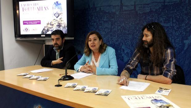 Tomás Palencia, Rosana Rodríguez y Víctor Manuel Carrillo, este jueves en Toledo