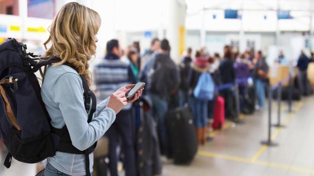 Un control de seguridad en un aeropuerto de Alemania