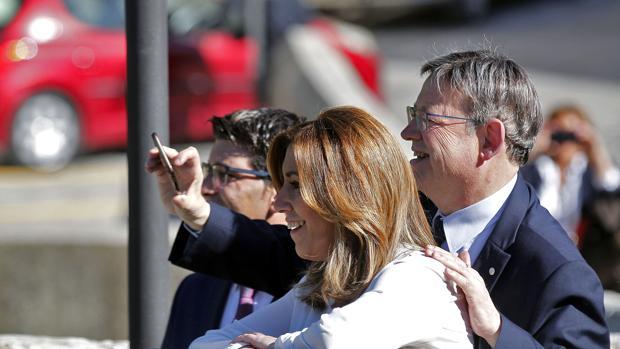 Imagen de Díaz, Puig y Rodríguez tomada este viernes en Ontinyent