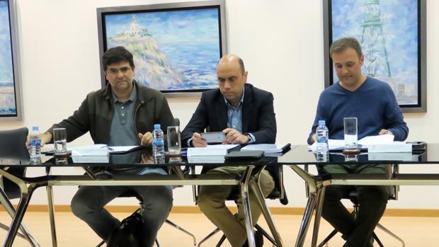 Imagen de los líderes del tripartito que gobierna Alicante