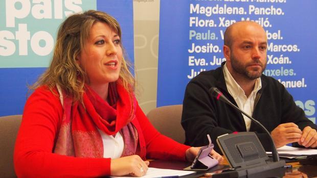 Santos y Villares ofrecieron una rueda de prensa en el Parlamento autonómico