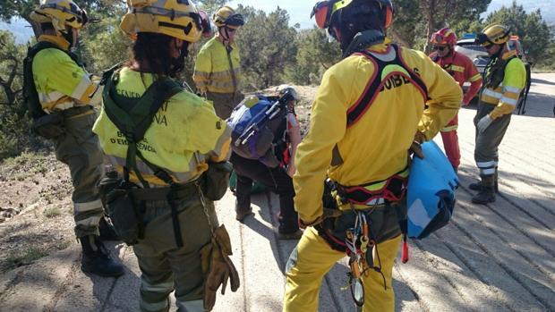 Imagen de otro rescare de los bomberos de Valencia