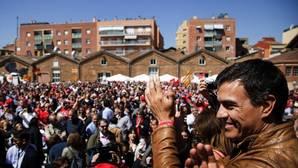 Pedro Sánchez, durante un acto celebrado hoy en Barcelona
