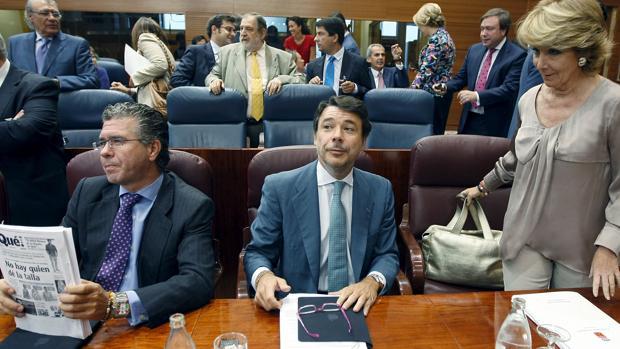 Francisco Granados, Ignacio González y Esperanza Aguirre