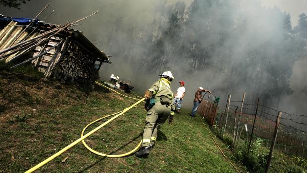 Un nuevo fuego en Cervantes eleva a mil las hectáreas arrasadas este mes