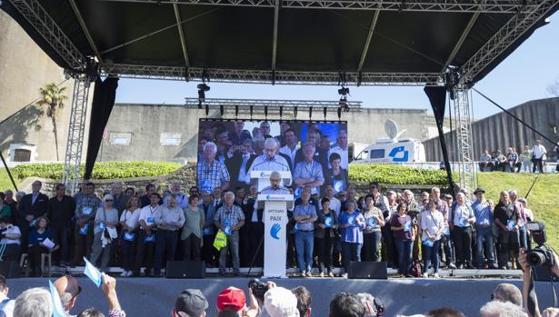 Acto final del desarme de ETA que tuvo lugar el pasado 8 de abril en Bayona