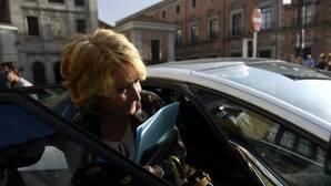 Esperanza Aguirre este lunes tras dimitir como concejala del PP madrileño