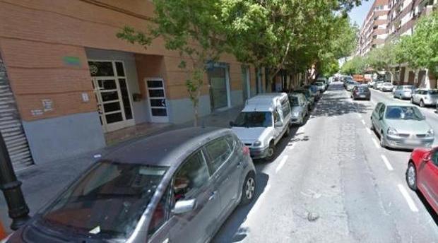 Imagen de la calle de Valencia en la que se registró la agresión