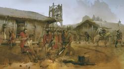 lustración «Campamento Romano», de Albert Álvarez Marsal