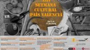 Imagen del cartel con los actos de la a XIII Semana Cultural País Valencià